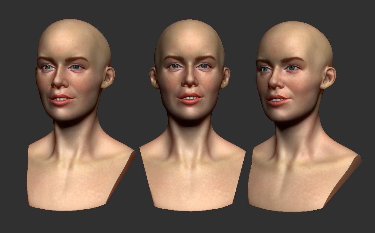 Female head 3d print
