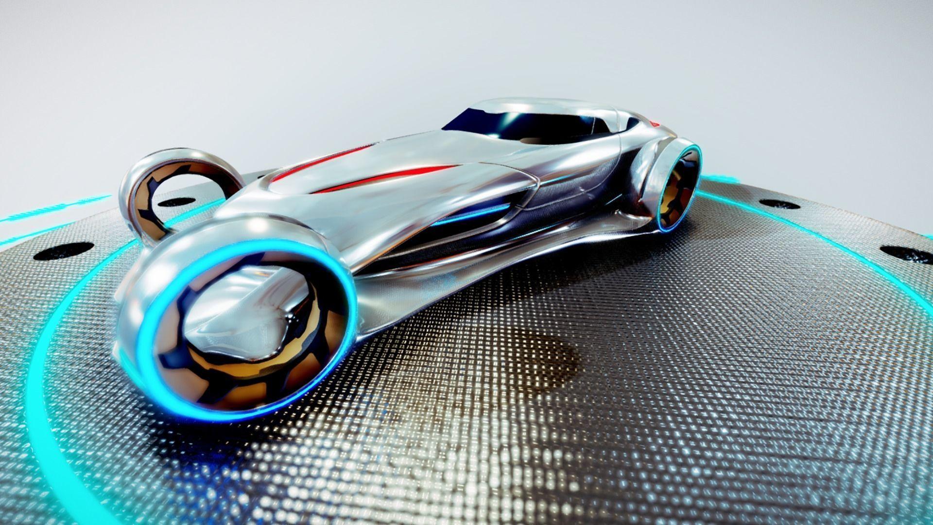 Mercedes-Benz Silver Lightning 3D asset | CGTrader