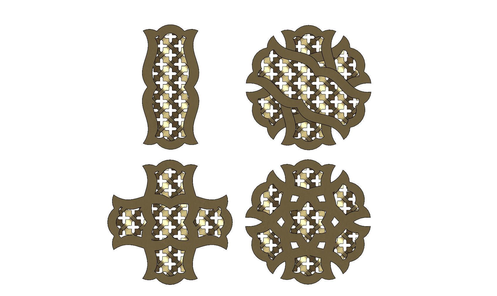 Arabian pendant  with moucharabieh motif