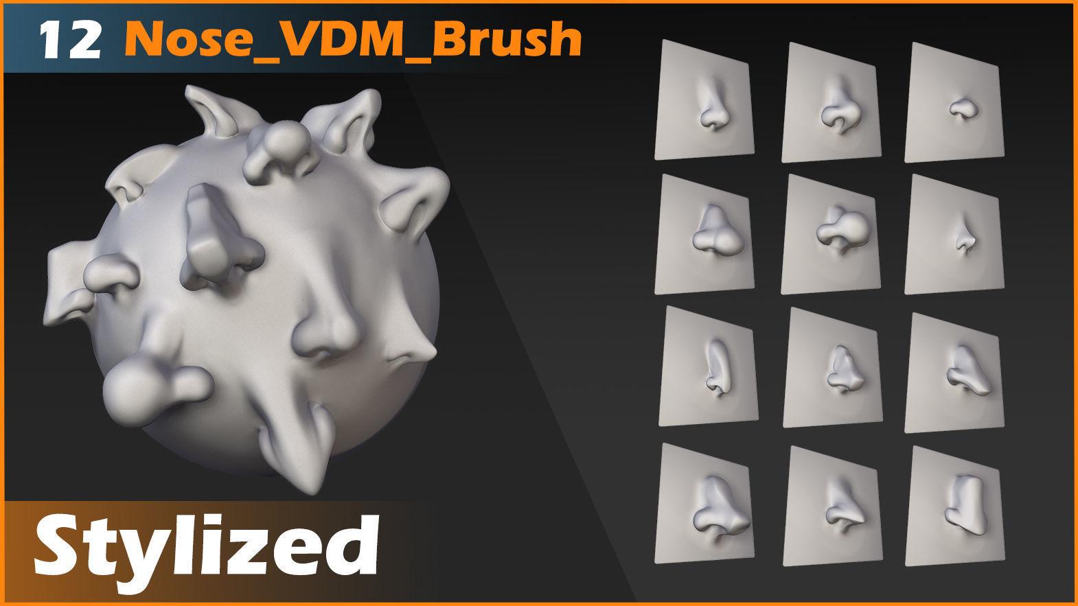 Noses 12 Stylized VDM Brush