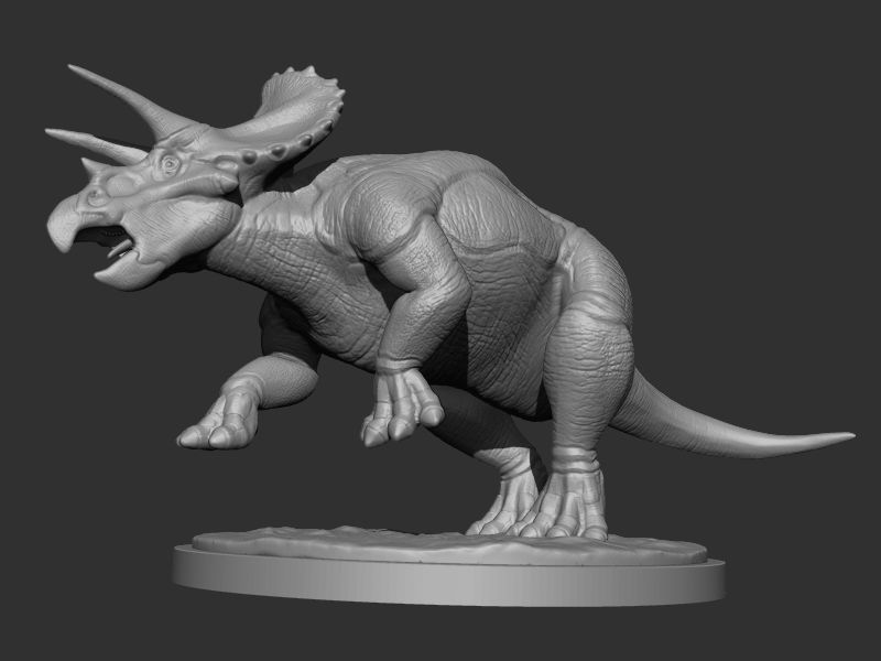 3D Triceratops for Printing 2