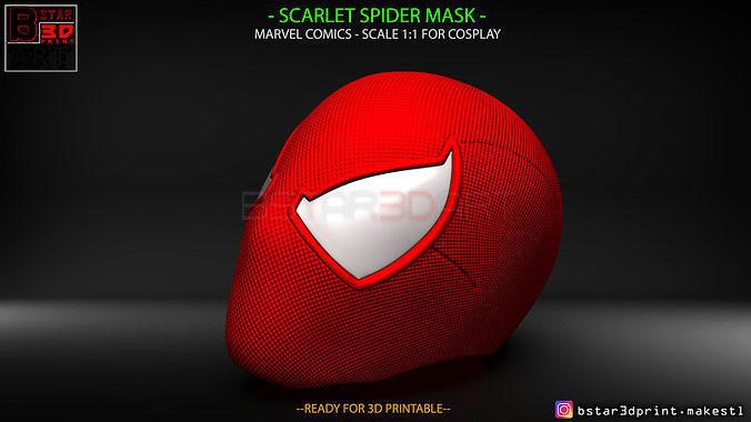 Scarlet Spider mask -Spider man Helmet - Marvel comics