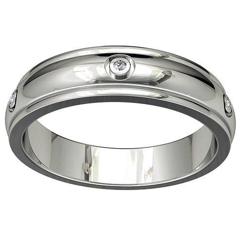 Wedding Band Ring For Men STL File ready For 3D Printing - CC71M