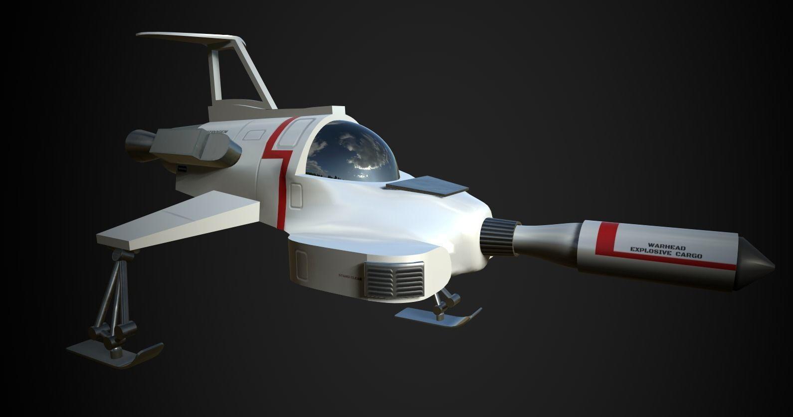UFO Interceptor-stylised model from the TV show