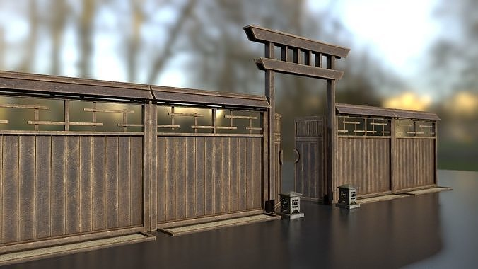 Japanese wooden modular fence