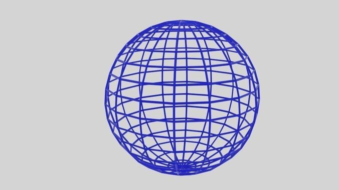 3D Asset Wireframe Sphere