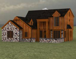 Two Story Traditional Home 3D model