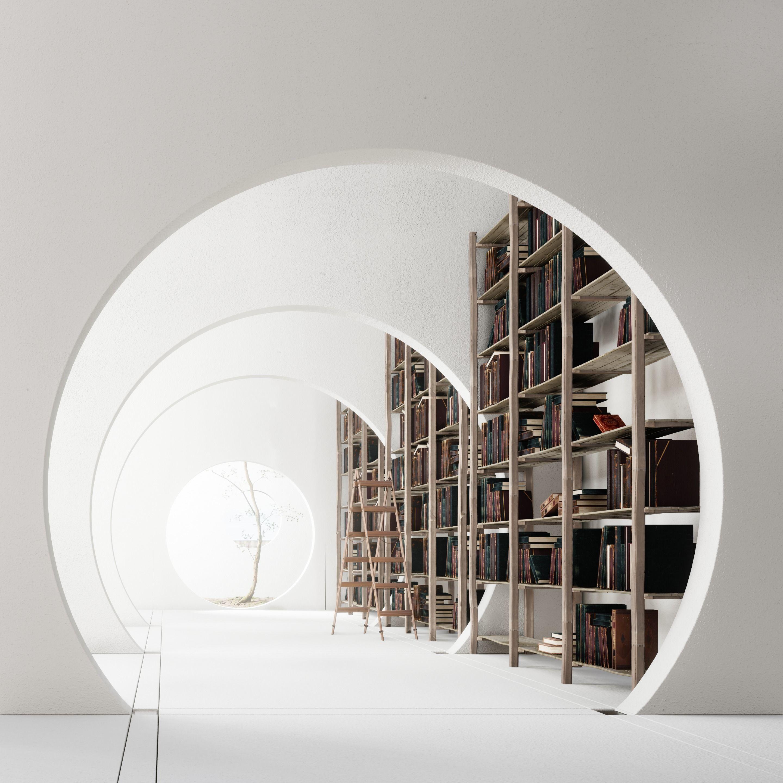 Library 3d scene