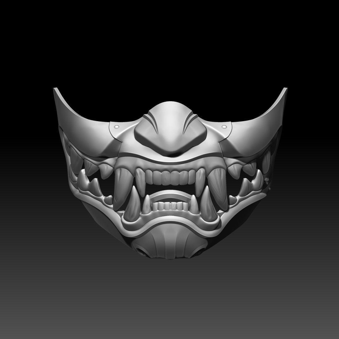 Kitana mask for cosplay Mortal Kombat 3D printable model 2