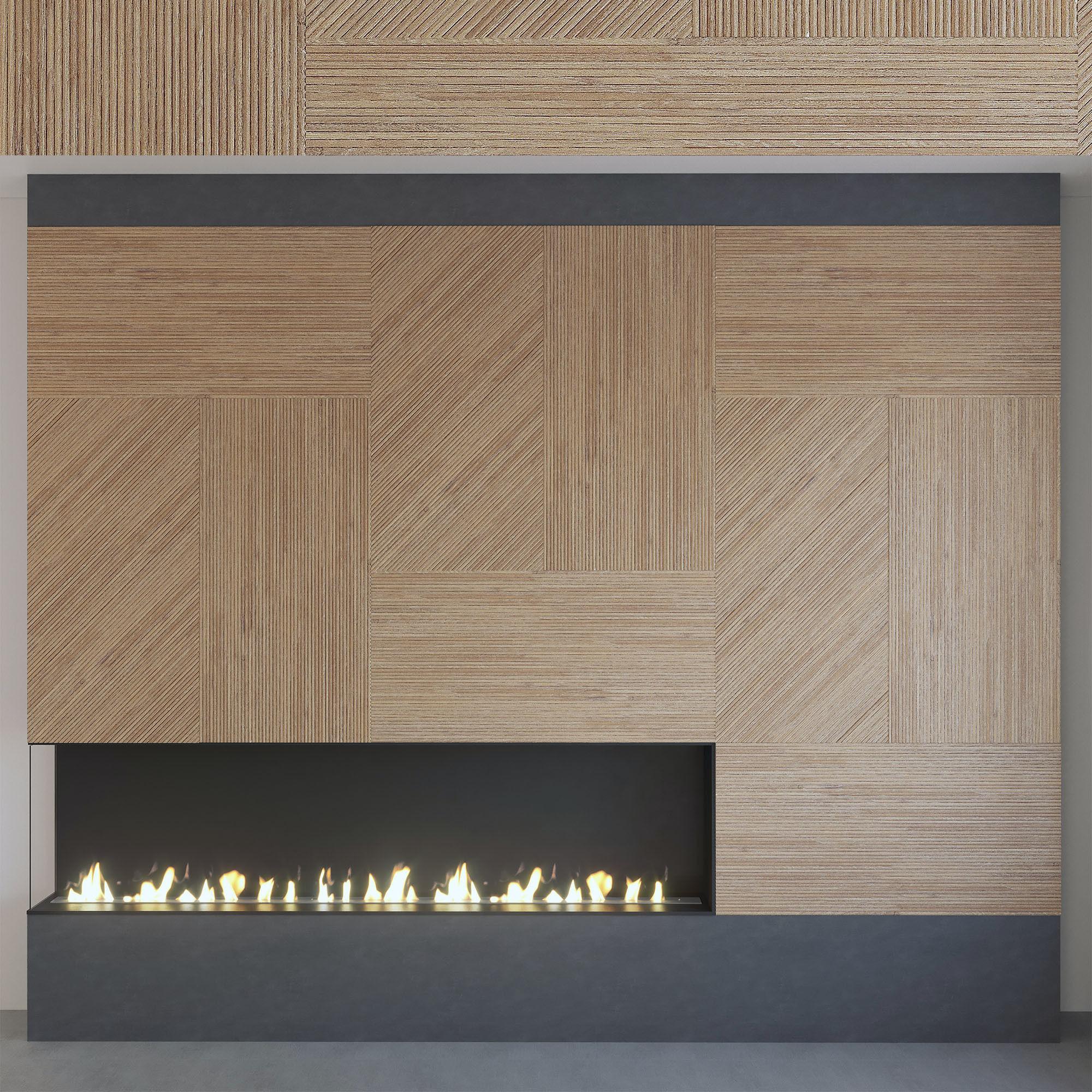 Wall Panel Set 118 Fireplace