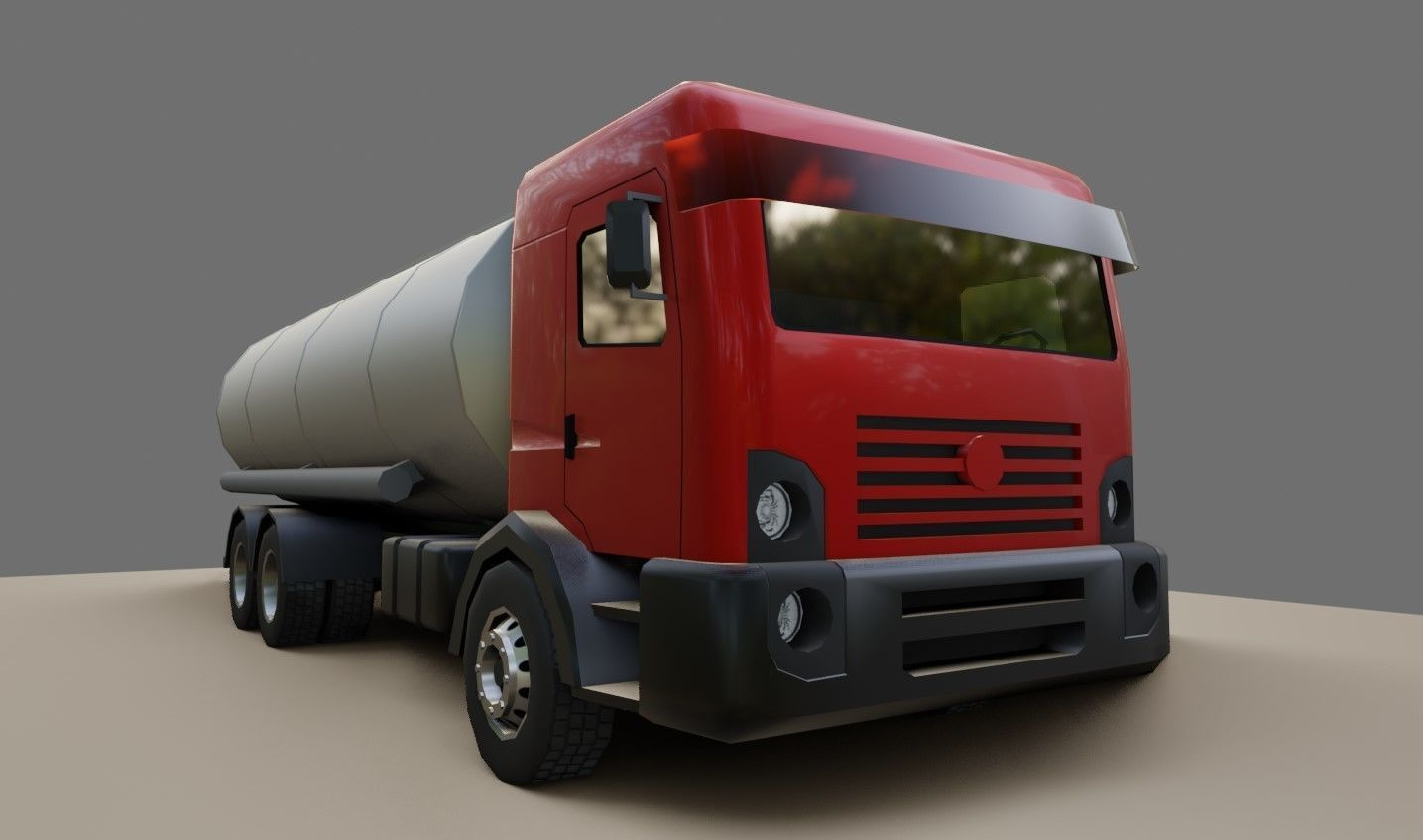 Red Truck - Tank - Fuel - Gasoline - Caminhao Tanque