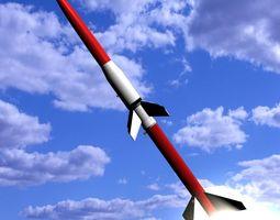 3d model astrobee 200 rocket