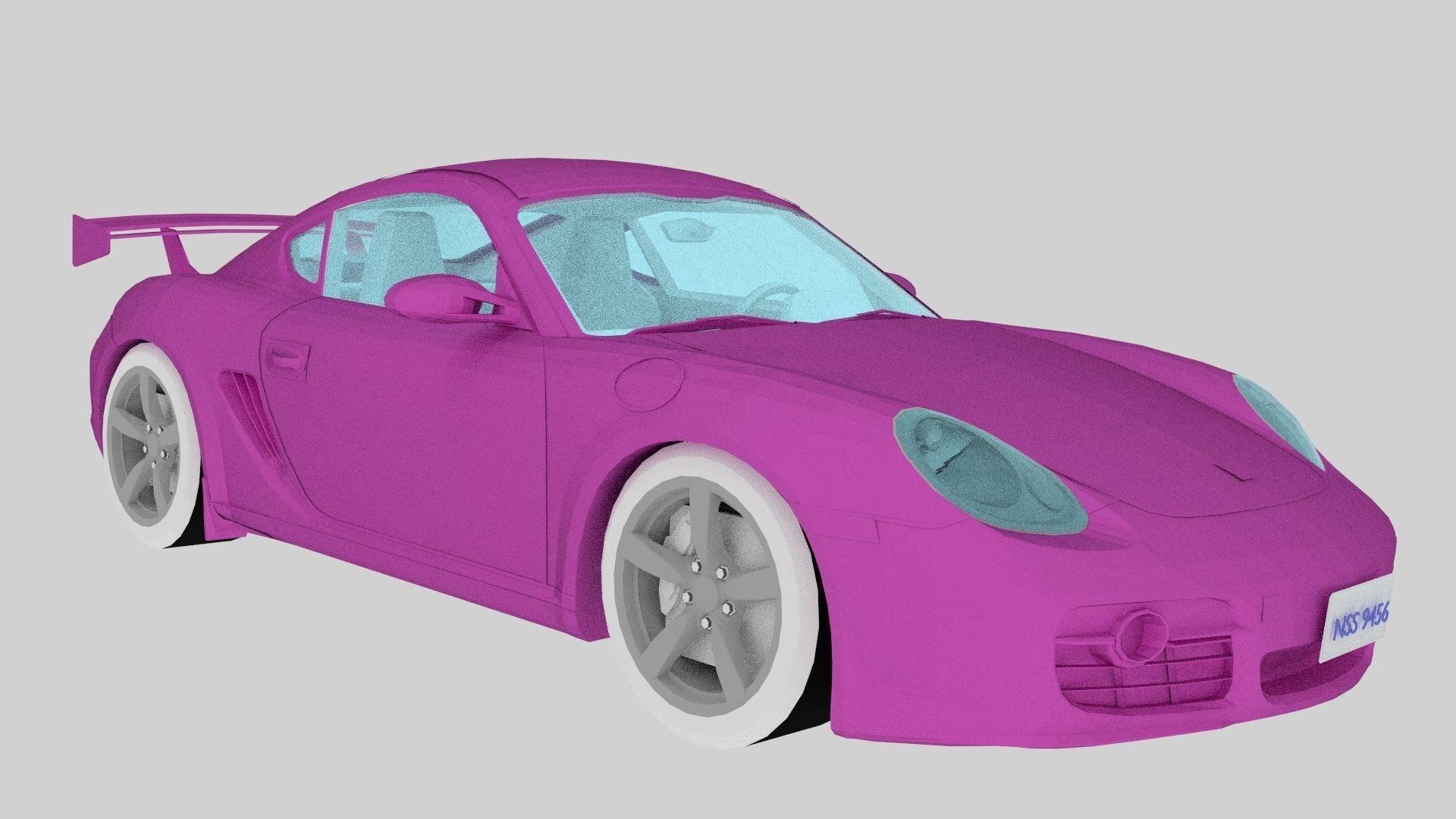 New Pink Porsche Car 3d Model Cgtrader