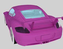 game-ready new pink porsche car 3d model