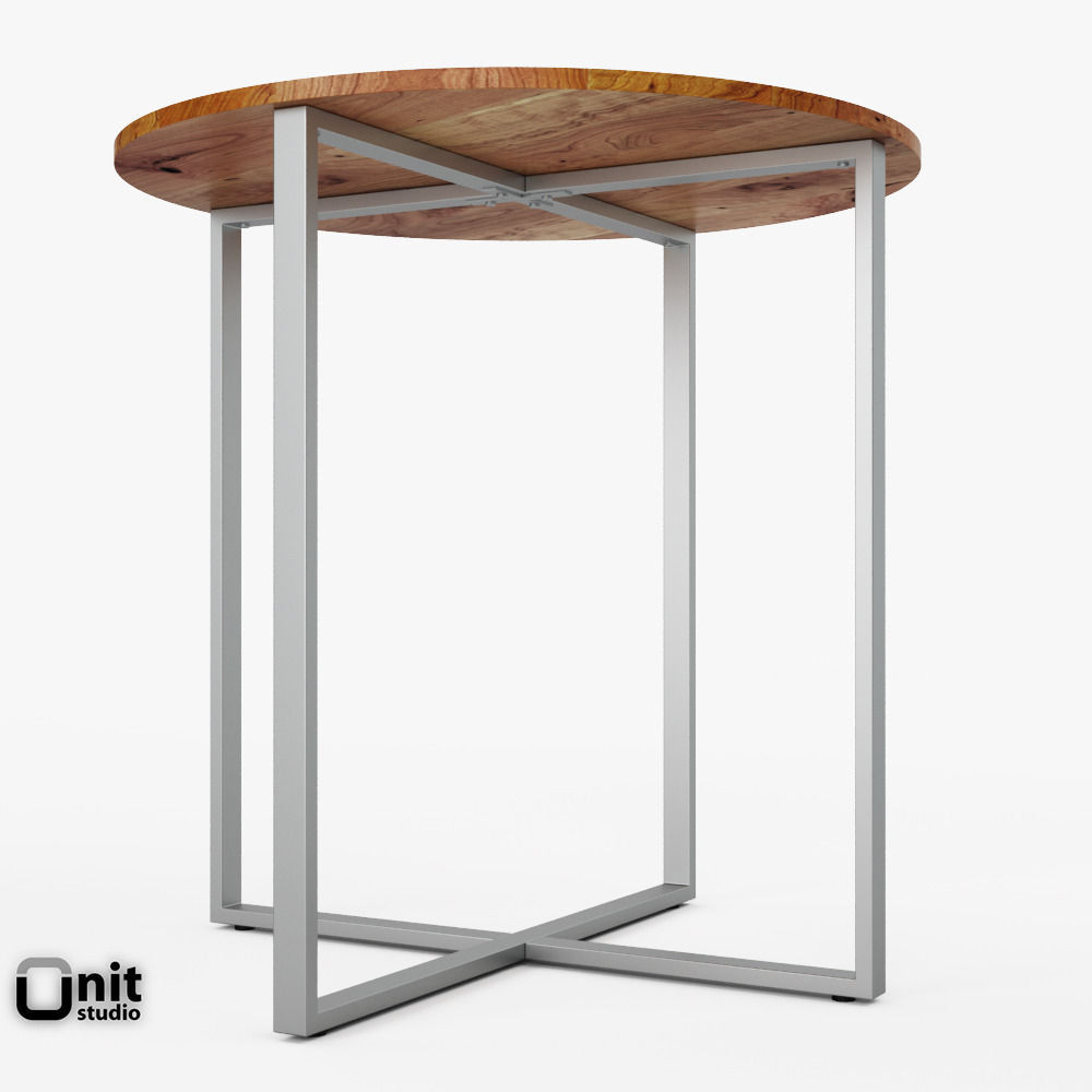 Rustic Round Counter Table By West Elm 3d Model Max Obj