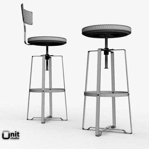rustic industrial stool by west elm 3d model max obj 3ds fbx dwg 13  sc 1 st  CGTrader.com & Rustic Industrial Stool by West Elm 3D | CGTrader islam-shia.org