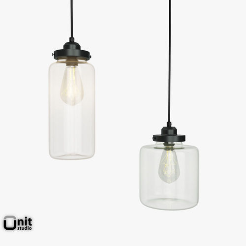 westelm lighting. Glass Jar Pendant Light By West Elm 3D Model Westelm Lighting B