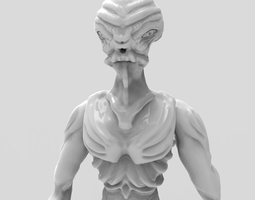 3d printable model gryealden the alien of a distant planet