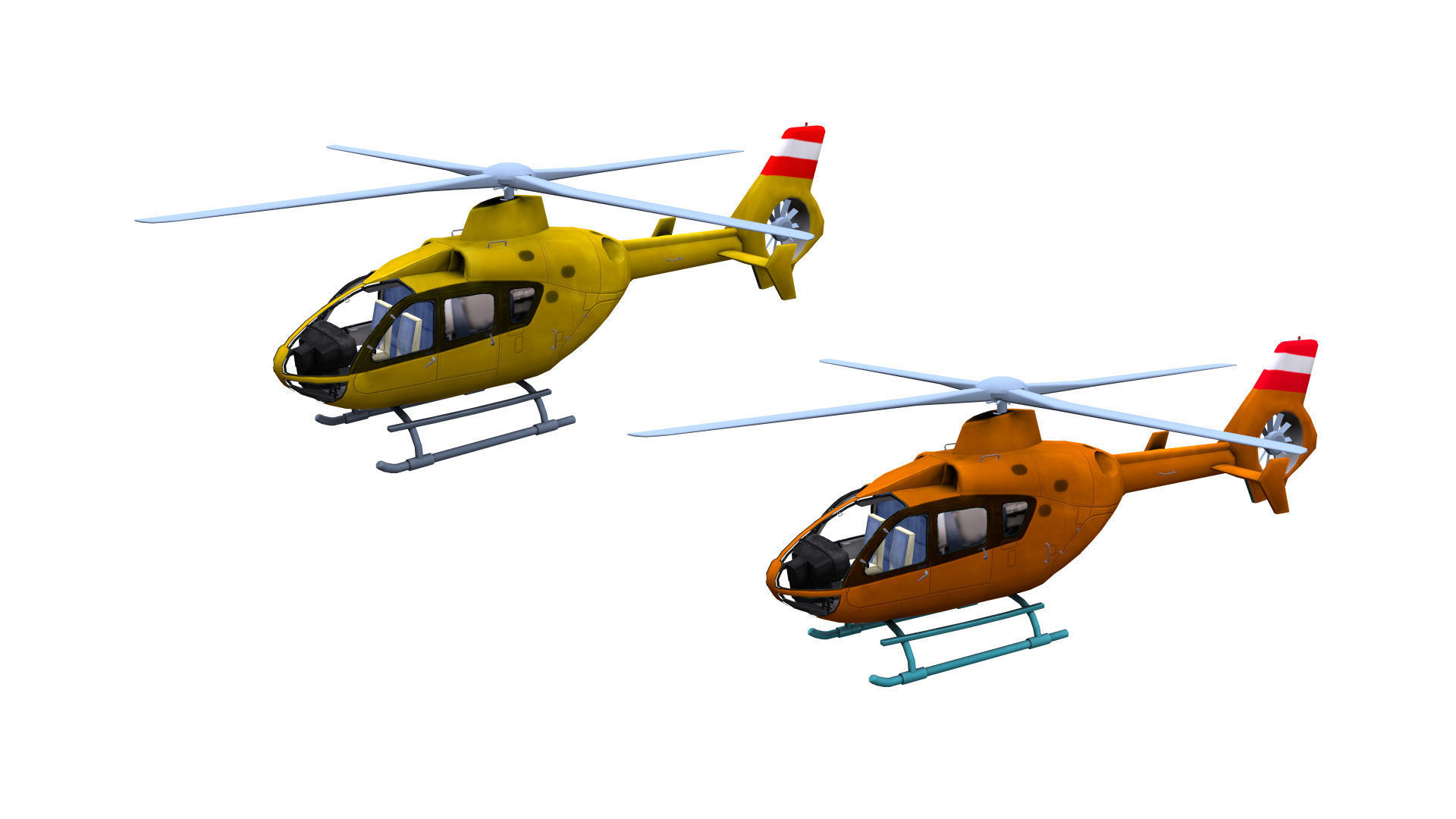 H145 Light twin Airbus Low-poly