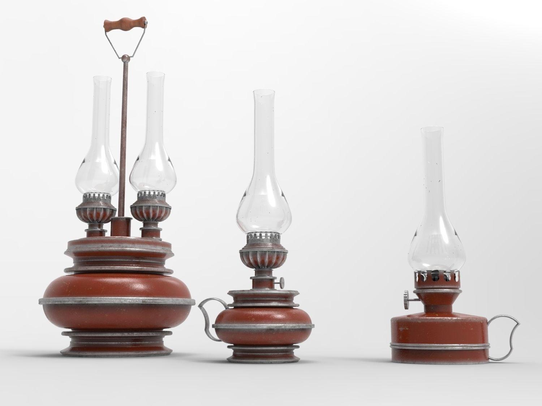 Picture of: Kerosene Lamps 3d Cgtrader
