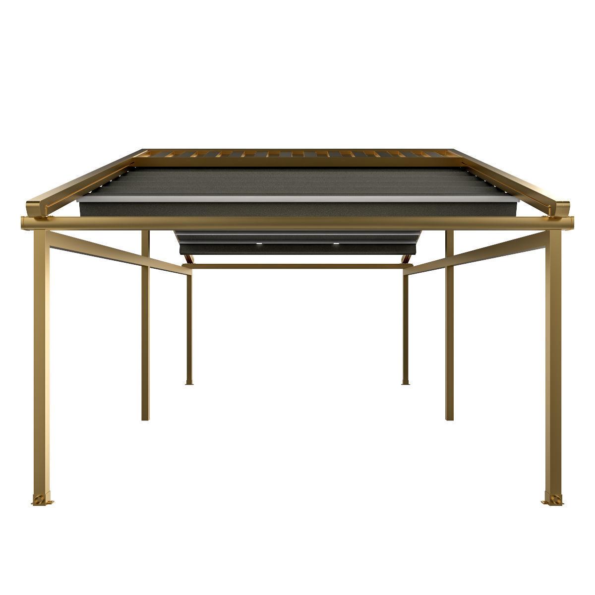 Motorized Pergola 5a brass furniture matte
