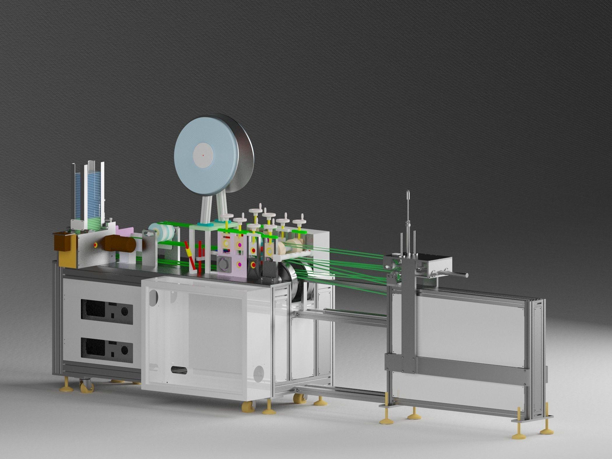 Bandage mask machine - automatic feeding