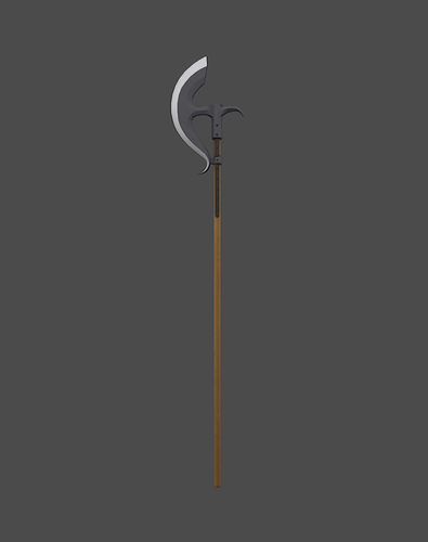 bardiche 3d model low-poly obj fbx mtl tga 1