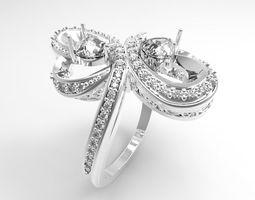 3D print model 2 flowers ring