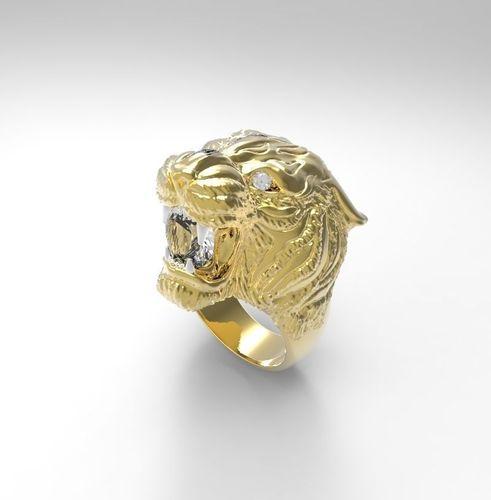 lion carrera ring 3d model stl 1