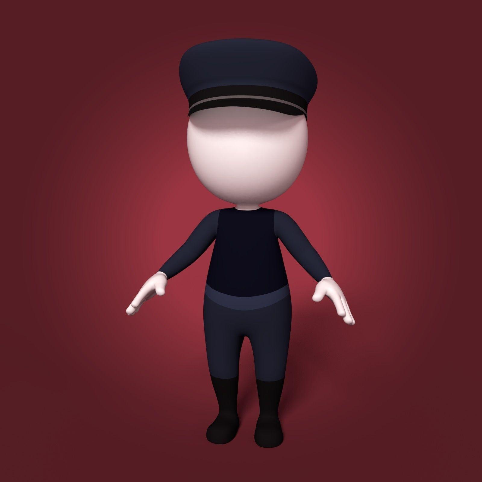 Cartoon Police Man