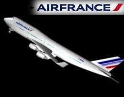 3D AIR FRANCE 747 -400
