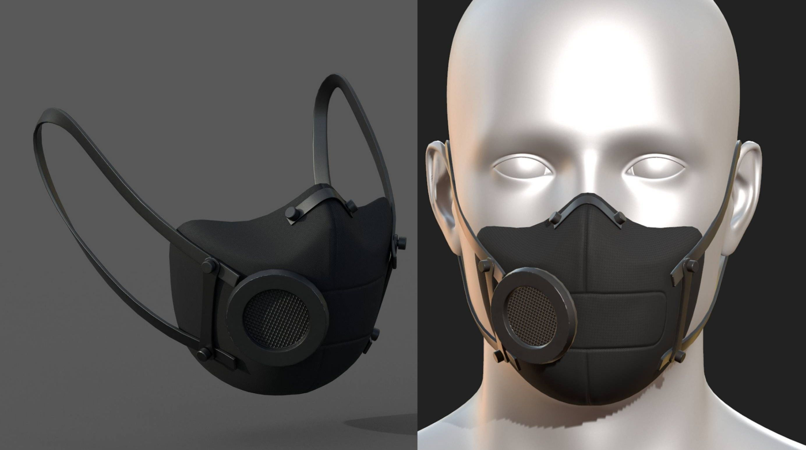 Gas mask protection futuristic fantasy isolated
