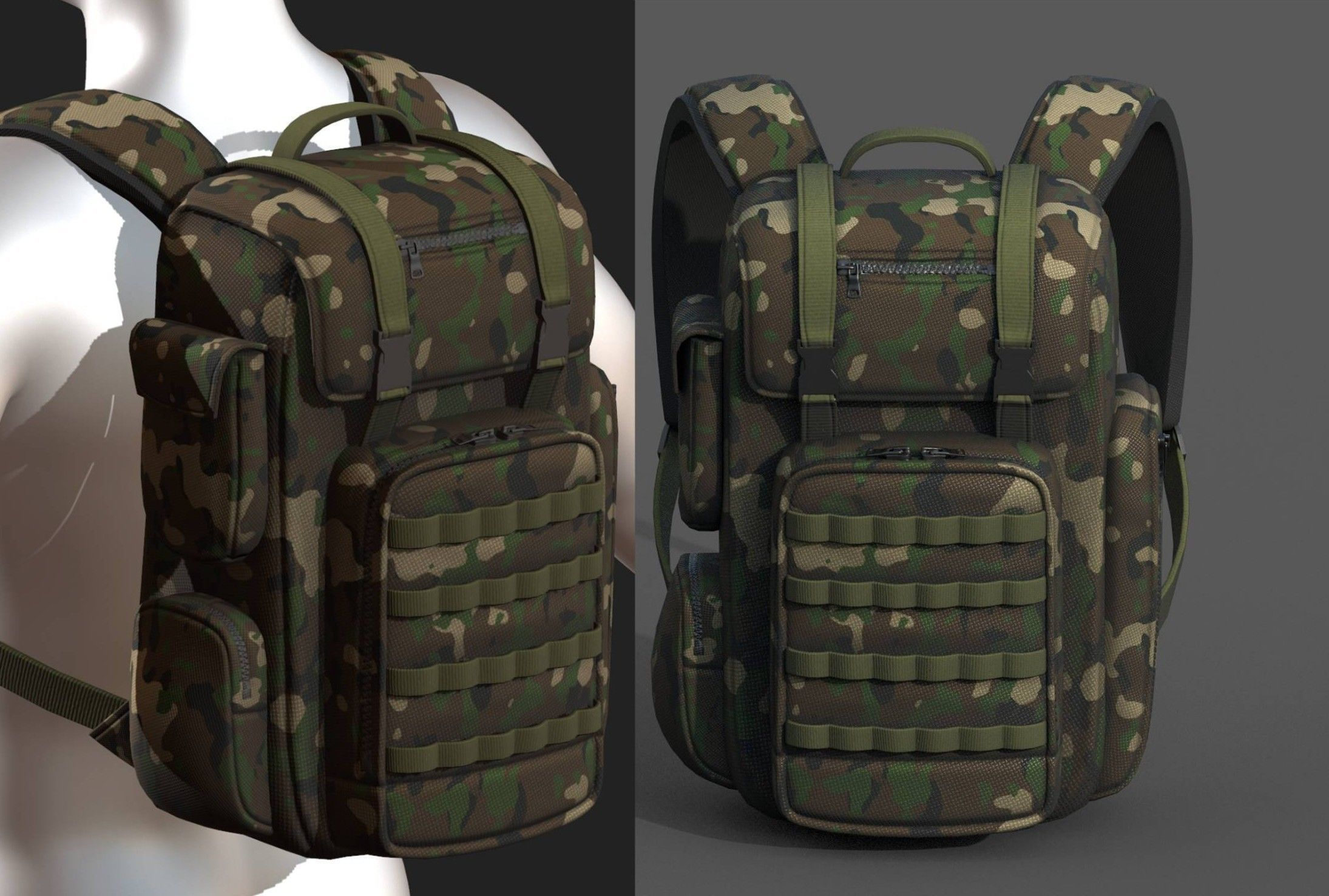 Backpack military combat soldier bag baggage