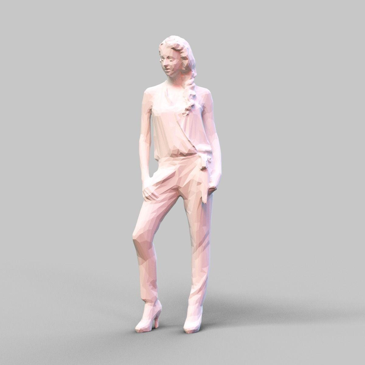 Girl Posing 2 3D Model 3D Printable OBJ