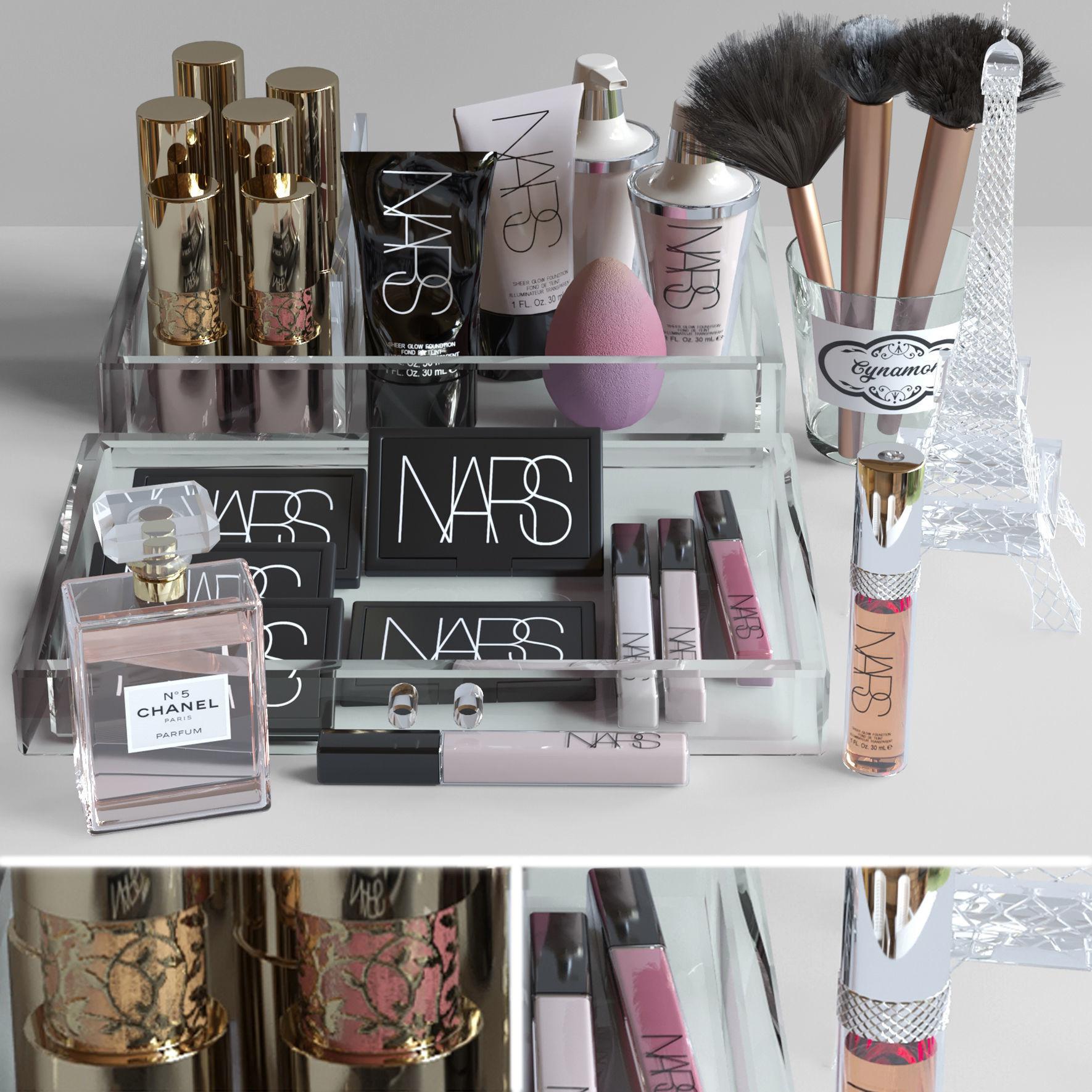 Set of luxury cosmetics