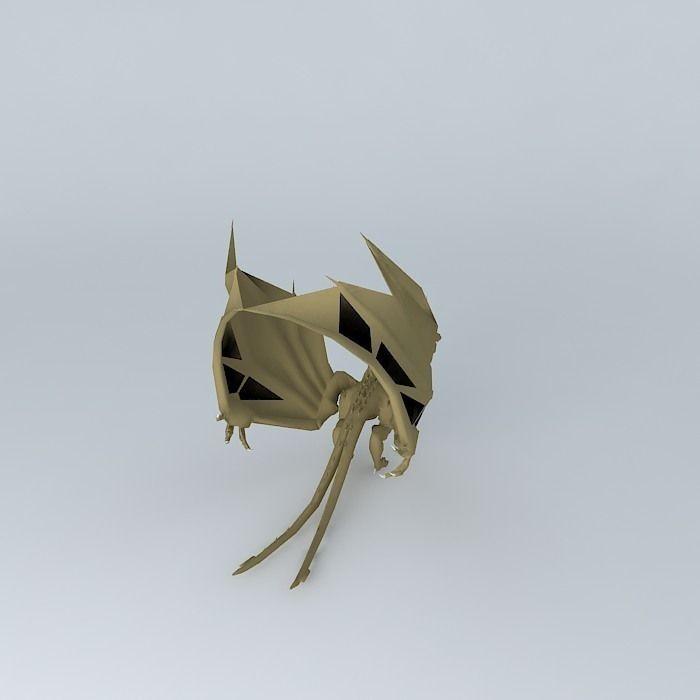 Three Dragon Head 3d Model Max Obj 3ds Fbx Stl Skp 2