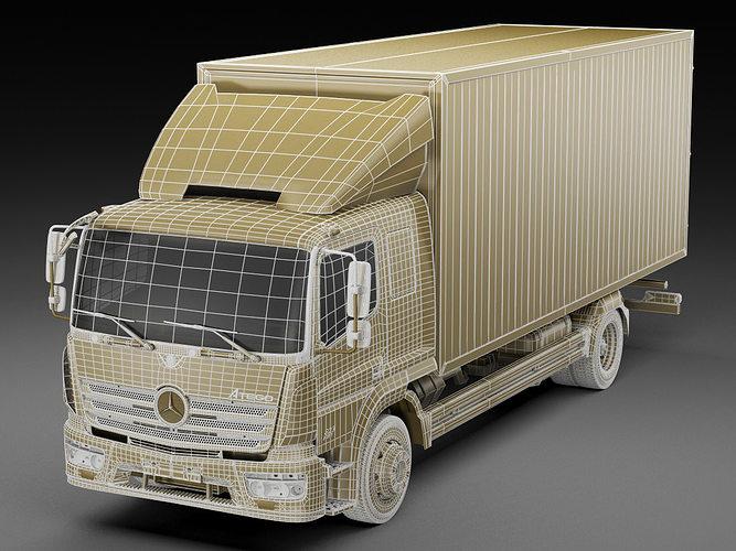 mercedes atego 2014 long 3d model max obj 3ds fbx c4d lwo lw lws 19