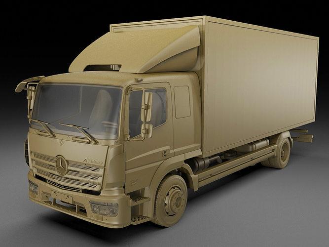 mercedes atego 2014 long 3d model max obj 3ds fbx c4d lwo lw lws 14