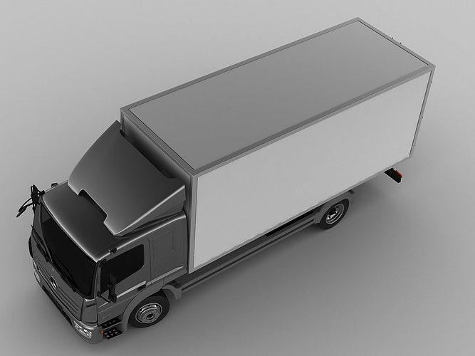mercedes atego 2014 long 3d model max obj 3ds fbx c4d lwo lw lws 6