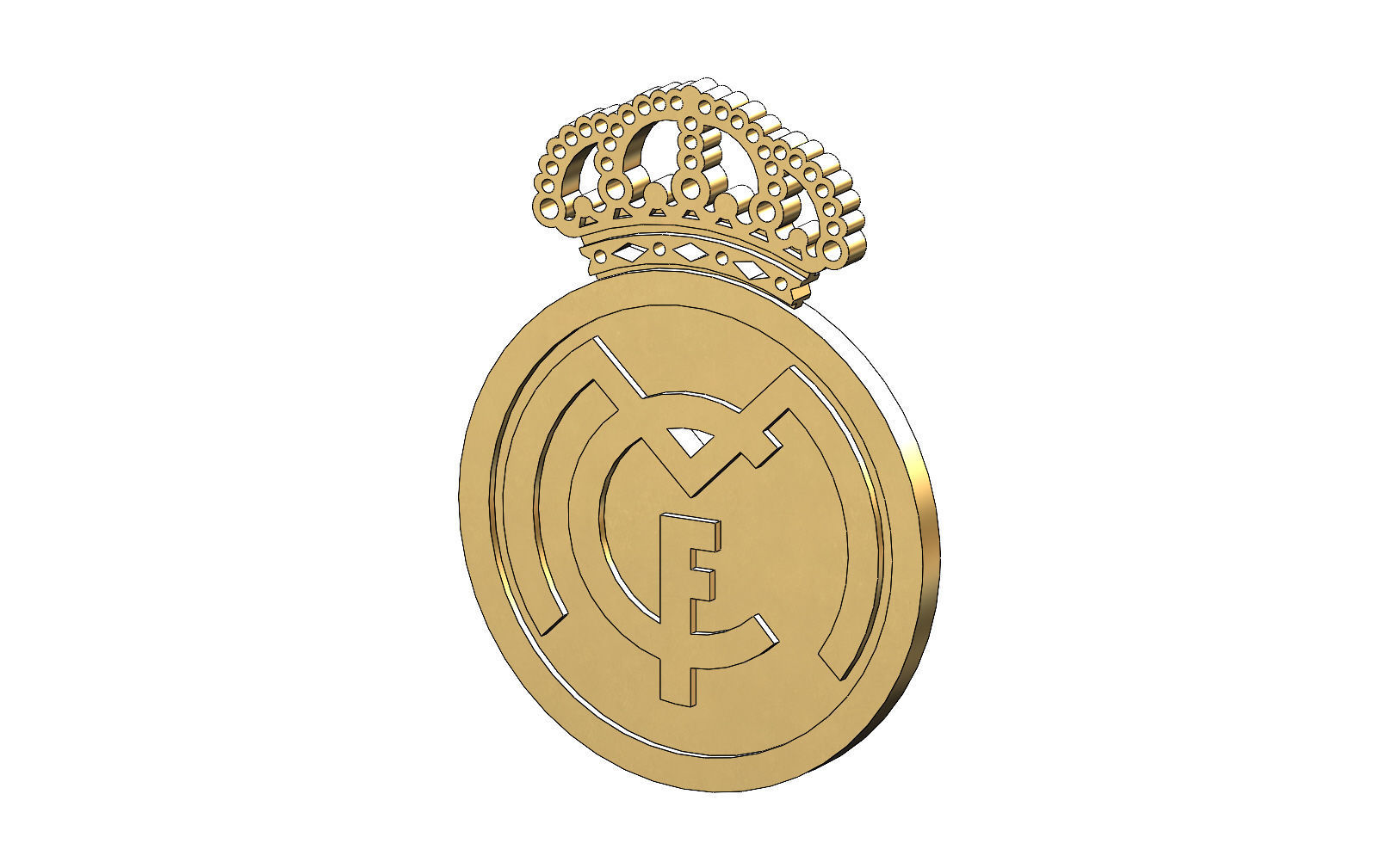 Real Madrid logo pendant and coin
