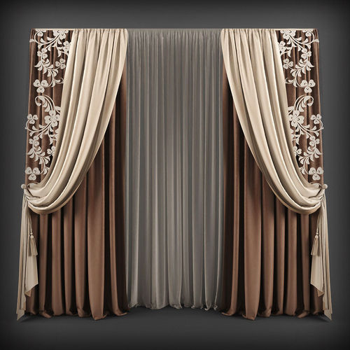 curtain 3d model 111 3d model max obj mtl fbx 1