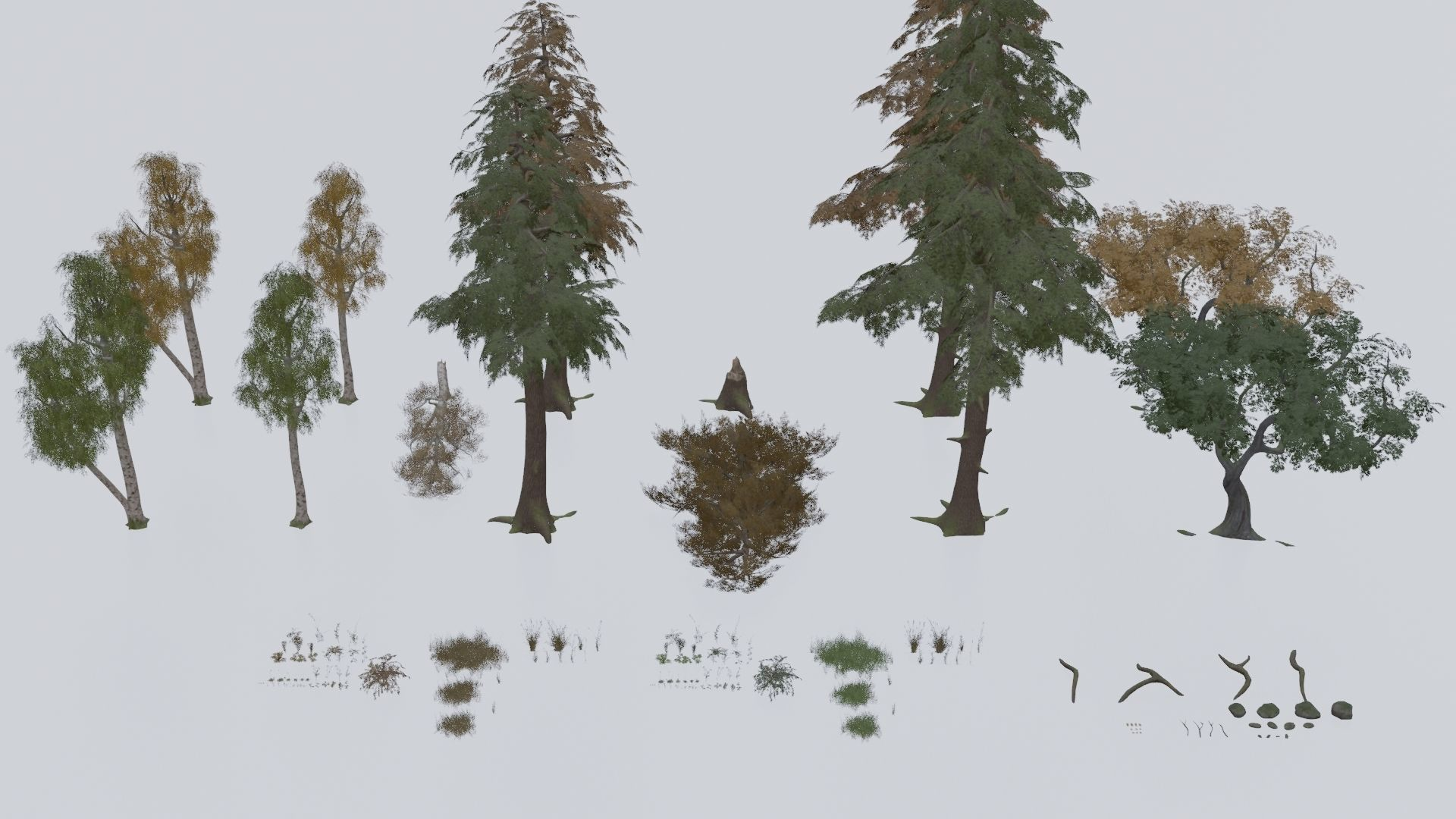 Low Poly Forest Pack With PBR Materials