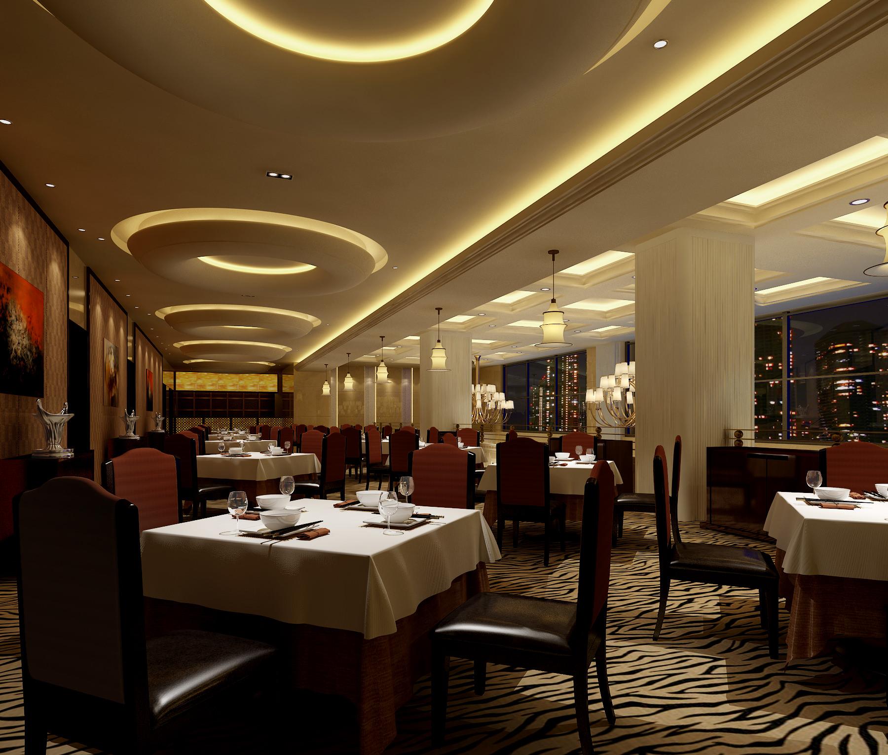 Restaurant 3d model max for Restaurant 3d max