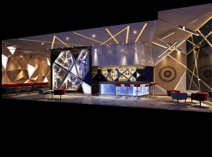 3d Posh Cafe Interior Cgtrader