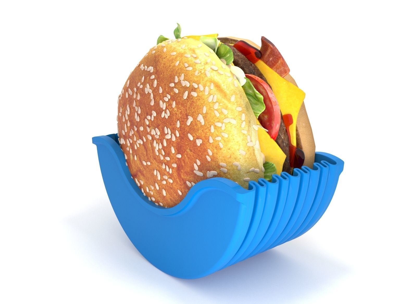 Burger in container