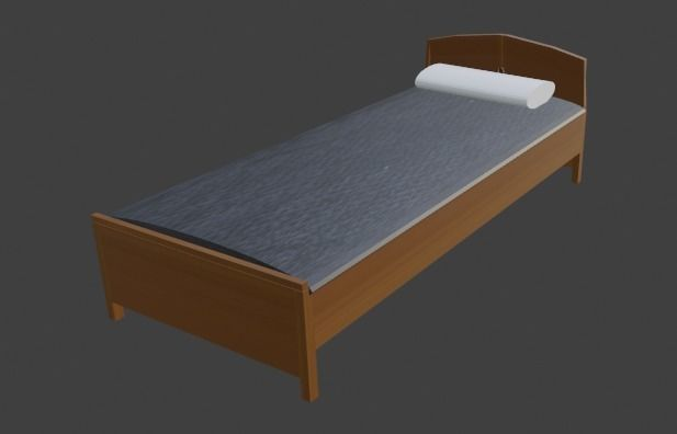 PLAIN WOODEN BED FOR DECORATION