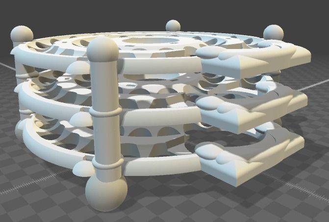 Keshe Magrav Power Unit Stacker 3D Model 3D printable STL