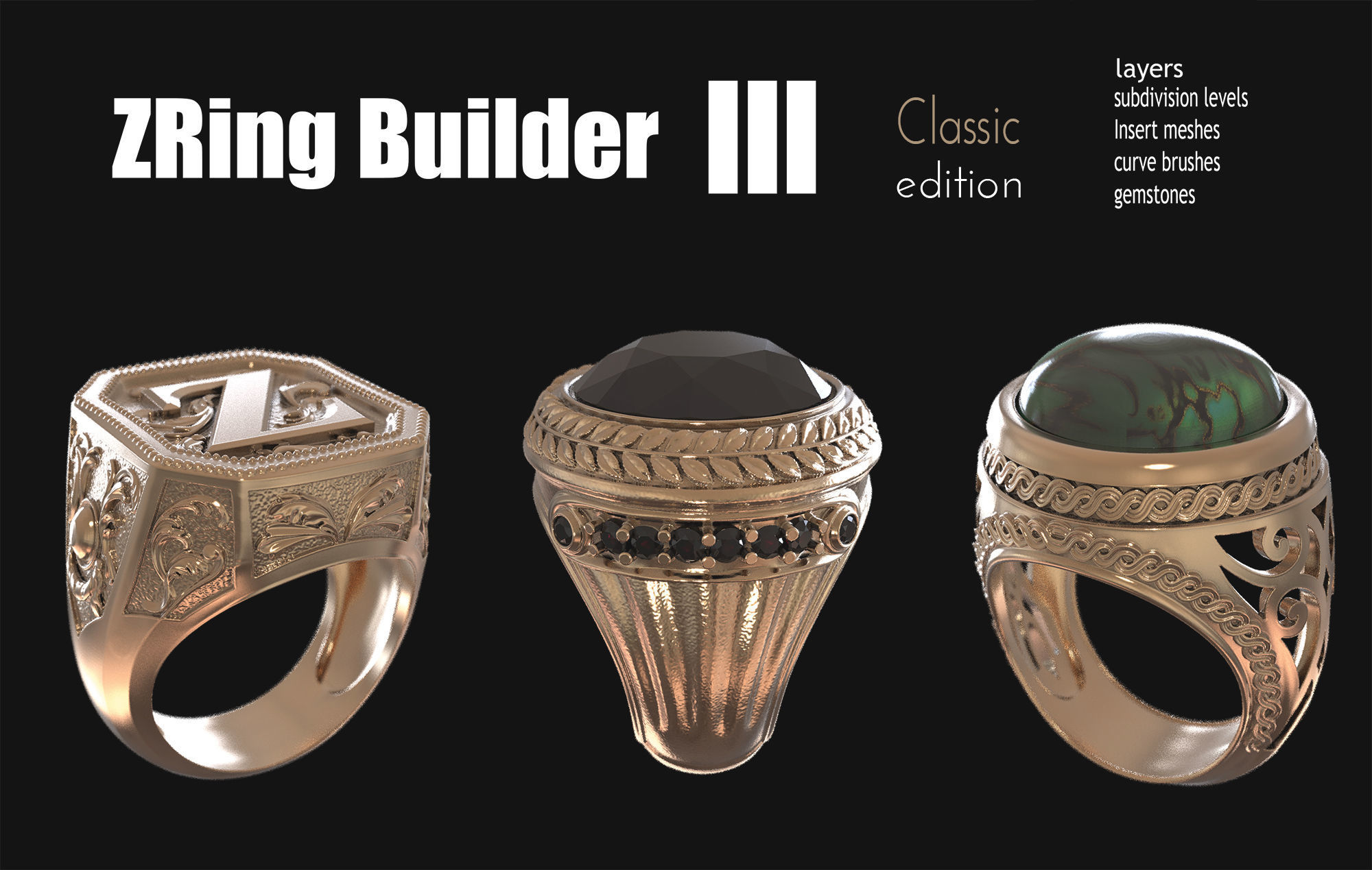 Zbrush jewelry Ring builder 3 classic edition