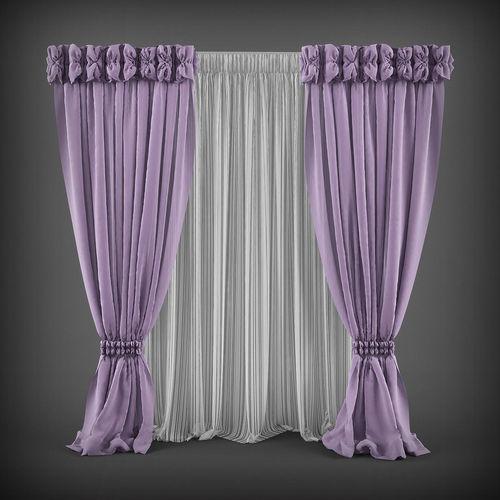 Curtain 3D model 8