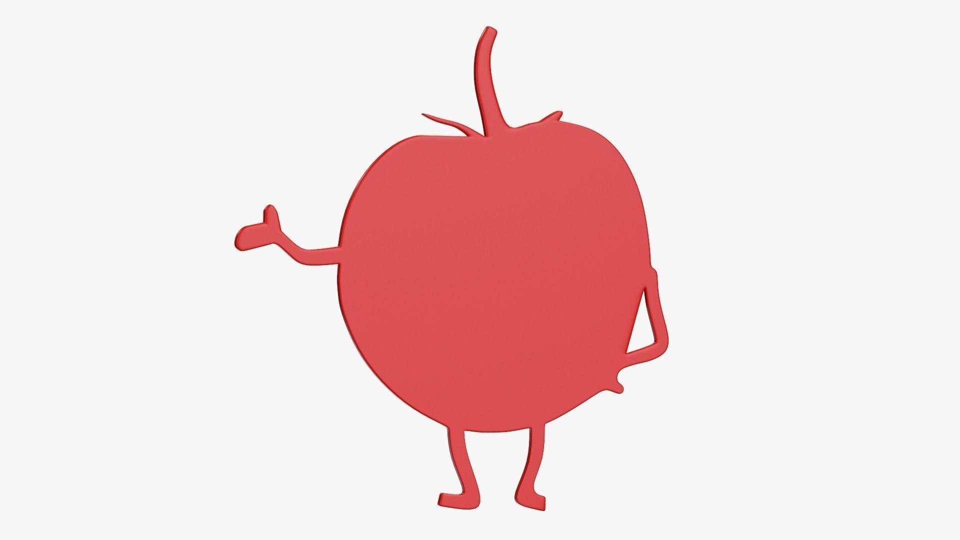 Tomato cartoon character magnet sticker